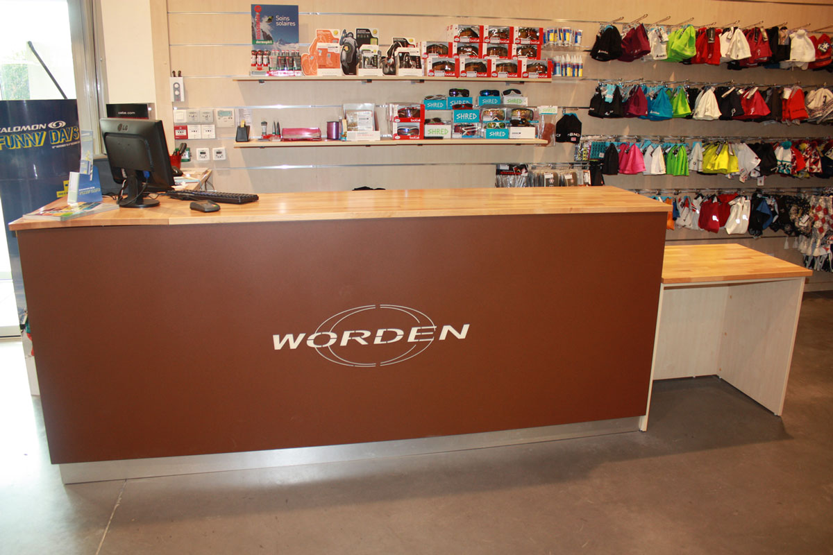 agencement de magasin de sport