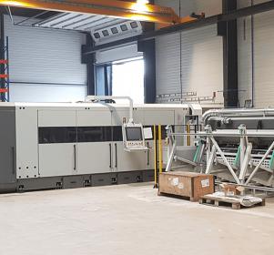 Laser de l'atelier de métallerie
